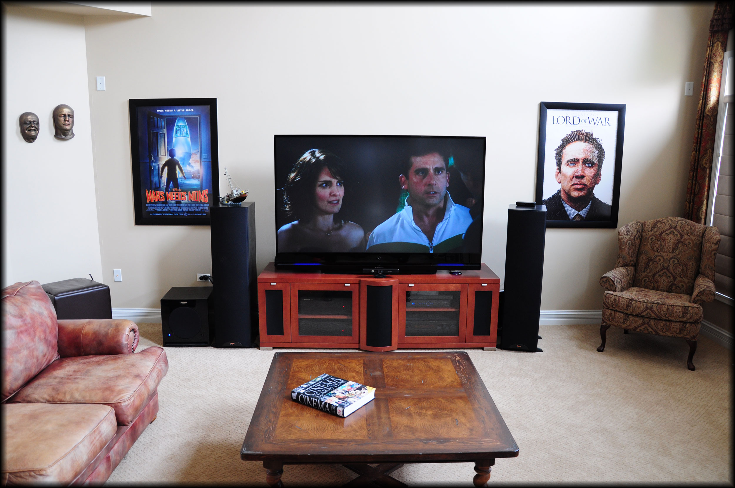 Movie Poster Frames In Home Theater Media Room